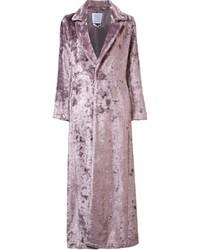 Abrigo de piel rosado de Rosie Assoulin