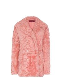 Abrigo de piel rosado de Sies Marjan