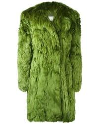 Abrigo de piel verde oscuro de Maison Margiela
