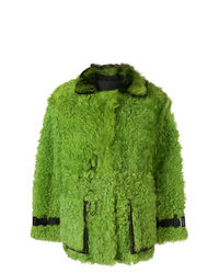 Abrigo de piel verde de Tom Ford