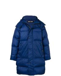 Abrigo de plumón azul
