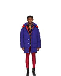 Abrigo de plumón azul de Gucci