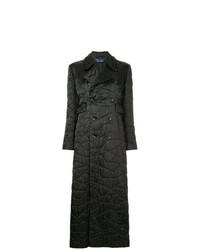 Abrigo de plumón bordado negro de Comme Des Garçons Vintage