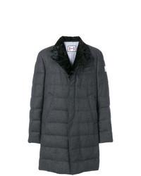 Abrigo de plumón en gris oscuro