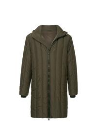Abrigo de plumón en marrón oscuro de Cerruti 1881
