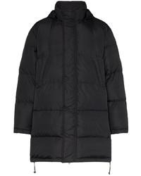 Abrigo de plumón estampado negro de Moschino