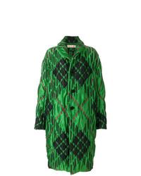 Abrigo de plumón estampado verde de Marni
