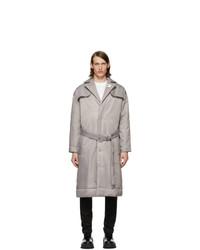 Abrigo de plumón gris de 032c