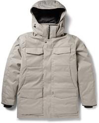 Abrigo de plumón gris de Canada Goose