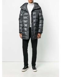 Abrigo de plumón gris de Dolce & Gabbana