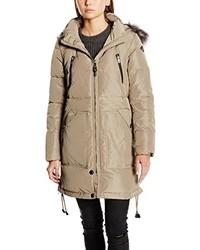 Abrigo de plumón marrón claro de Only