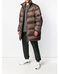 Abrigo de plumón marrón
