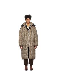 Abrigo de plumón marrón de Gucci