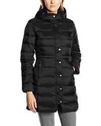 Abrigo de plumón negro de Benetton
