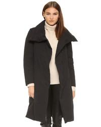 Abrigo de plumón negro de DKNY