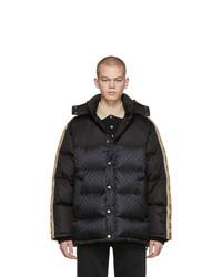 Abrigo de plumón negro de Gucci