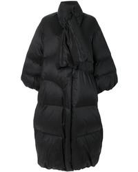 Abrigo de plumón negro de Maison Margiela