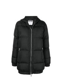 Abrigo de plumón negro de Moschino