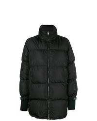 Abrigo de plumón negro de Prada