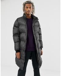 Abrigo de plumón negro de Pull&Bear