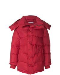 Abrigo de plumón rojo de Balenciaga
