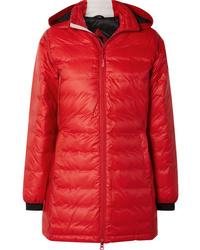 Abrigo de plumón rojo de Canada Goose