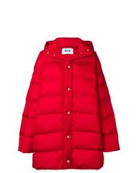 Abrigo de Plumón Rojo de MSGM