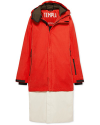 Abrigo de plumón rojo de TEMPLA