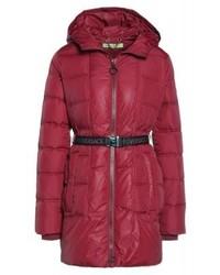 Abrigo de Plumón Rojo de Versace