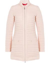 Abrigo de plumón rosado