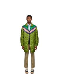 Abrigo de plumón verde oliva de Gucci