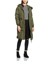 Abrigo de plumón verde oliva de Vero Moda