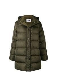 Abrigo de plumón verde oscuro de MSGM