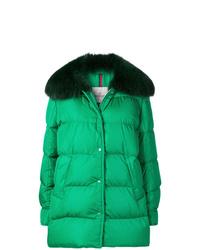 Abrigo de plumón verde de Moncler