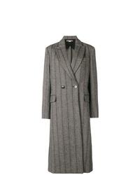 Abrigo de rayas verticales en gris oscuro de Stella McCartney