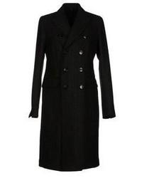 Abrigo de rayas verticales negro