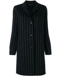 Abrigo de rayas verticales negro de Rag & Bone