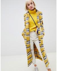 Abrigo de tartán amarillo de Glamorous