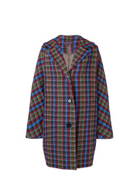 Abrigo de tartán en multicolor de Talbot Runhof
