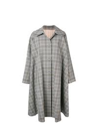 Abrigo de tartán gris de MM6 MAISON MARGIELA