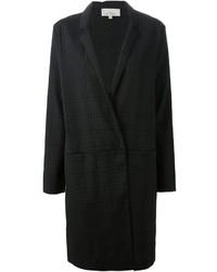 Abrigo de tartán negro