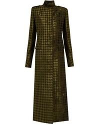 Abrigo de terciopelo verde oliva