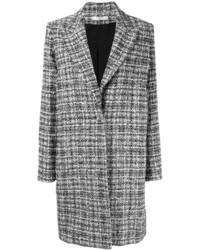 Abrigo de tweed a cuadros en negro y blanco de Lanvin