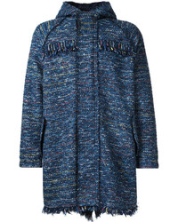 Abrigo de tweed azul marino de Coohem