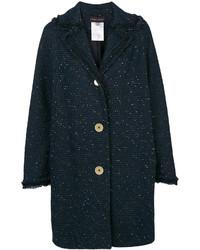 Abrigo de Tweed Azul Marino de Talbot Runhof