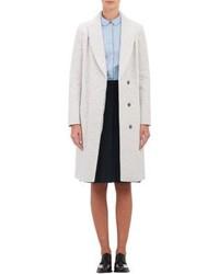 Abrigo de tweed blanco