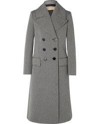 Abrigo de tweed de espiguilla gris de Burberry