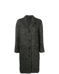 Abrigo de tweed en gris oscuro de Aspesi