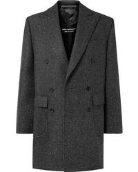 Abrigo de tweed en gris oscuro de Junya Watanabe