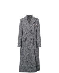Abrigo de Tweed Gris de Ermanno Scervino